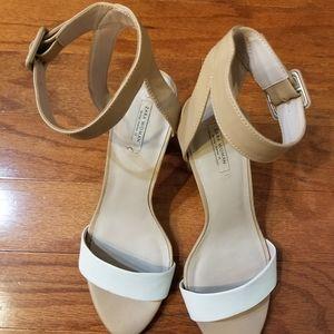 Zara Mid-Heel Sandals with Ankle Straps